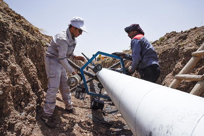 تعویض خط هشت اینچ انتقال نفت از نفت شهر به پایطاق 6