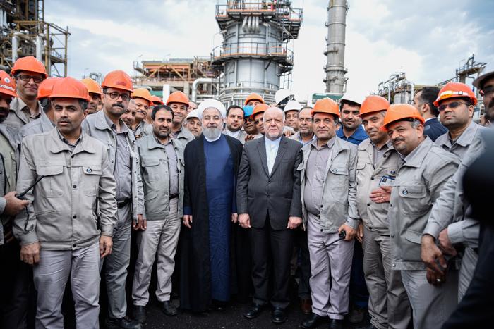 افتتاح طرح افزایش تولید و ارتقا کیفیت بنزین پالایشگاه نفت بندرعباس 7