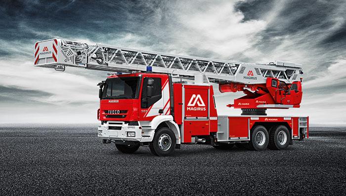 خودرو نردبان آتش نشانی 60 متری ماگیروس آلمان
